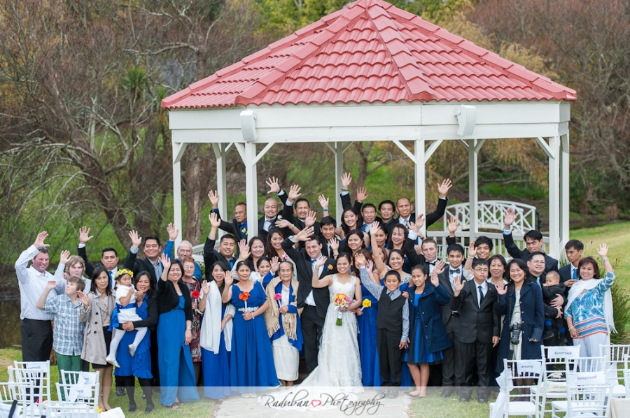 """Morgan and Ethel travelled all the way from the South Island to say their """"I do's"""" in Auckland where most of Ethel's family live."""